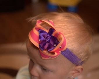 Headband purple jewel