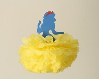 Snow White Party Decorations/Disney Princess party tissue pompom/fairytale decoration Birthday/Baby Shower/Christening/Baptism
