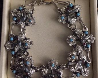 Handmade Silver Baroque Bracelet