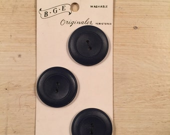 Vintage Navy Blue Buttons