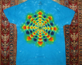 Tie Dye T-Shirt - Starbust Pattern, Front and Back - Size L