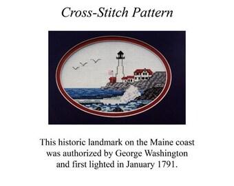 Portland Head Light Cross-Stitch Pattern