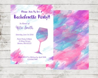 Bachelorette Party Invitation Digital File