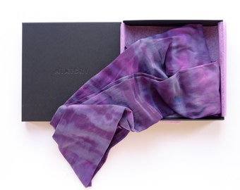 RADIANT / Tie-dyed bright purple & pink tights / 40 DEN