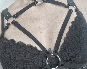 Toxic harness - studded harness with choker