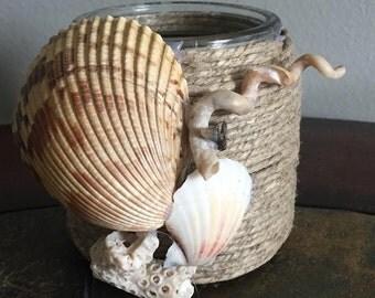 Hemp Shell Candle Holder