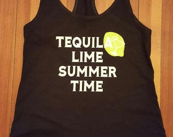 Tequila lime summer time tank top