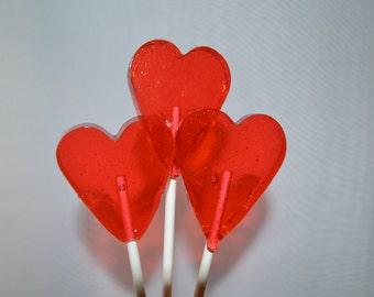 Heart Lollipops - 1 dozen