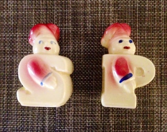 1950's Chef Salt and Pepper shakers