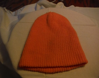 Kids Hunter Orange Knit Hat