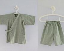 Kasuri Jinbei - Japanese kids 6yr boy or girl