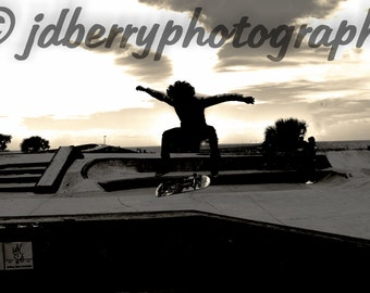 black an white skater photography silhouette
