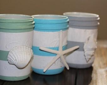 Ocean shells jar set