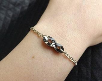 "925 silver bracelet and Swarovski Crystal ""Infinity"""