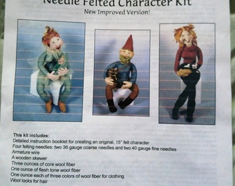 Black Sheep Designs Needle Felted Character Kit