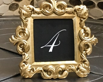 Set of stunning gold table numbers/Beautiful gold wedding table number set