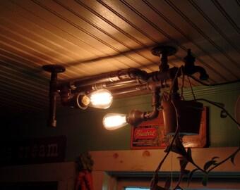 Dining Room Pool Table Black Iron Pipe 19 Light Rectangular