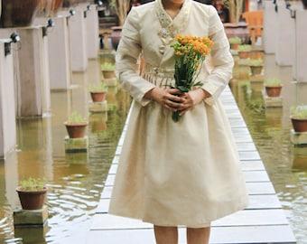 Golden hanbok dress
