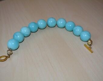 Robin's Egg Blue Beaded Bracelet