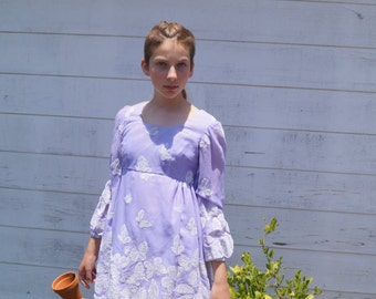 Vintage Purple Butterfly Dress