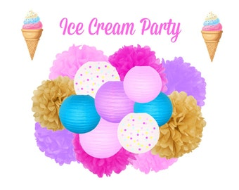 Ice Cream Party Decoration - Hanging Decoration