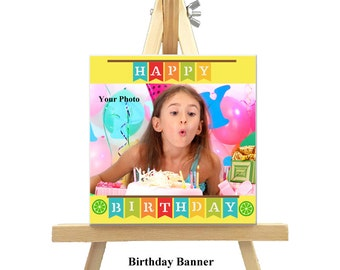 12cm x 12cm Personalized Canvas with Easel - Special Ocassions