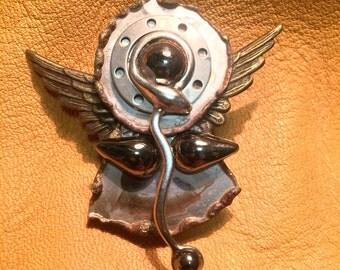 Treska Steampunk Mixed Metals Angel Pin