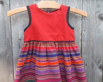 Little girls dress with Guatamala fabric