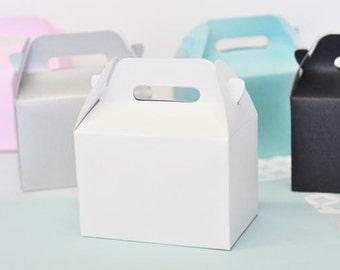 Mini Gable Boxes-set of 12, mini gable favor boxes, pink gable box, blue gable box, mini gable box favor, wedding favors, birthday favors