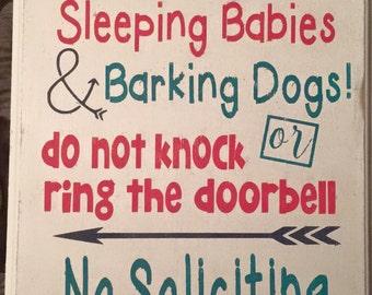 Shhh.. Sleeping Babies Sign