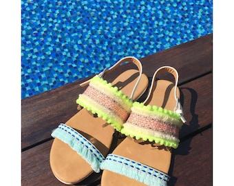Buhemian, Chic, Handmade Sandals