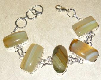 Bracelet – Botswana Agate – Light Green
