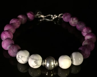 Women's Howlite And Purple Jasper Bracelet