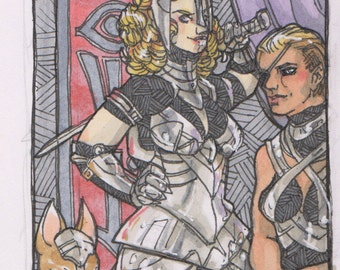 Warlady ACEO Original Art Card