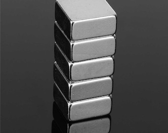 10 x 10 x 5 mm Neodymium magnet N38 force of gravity 1.80 kg very strong 25 pieces
