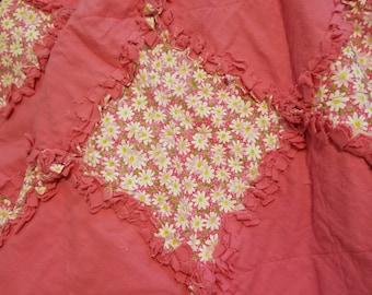 Pink rag quilt