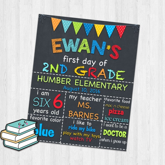 This is a picture of Eloquent First Day of 2nd Grade Printable Sign