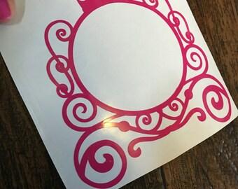 Pink carriage monogram