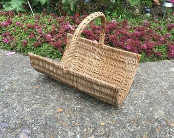 Wicker flower basket