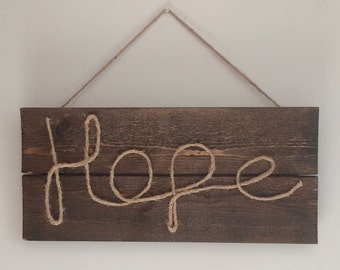 Rope Sign - Hope