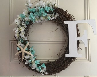 Grapevine Wreath Beachy Chic
