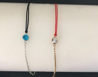 Mixed fine bracelet simple string / double cord