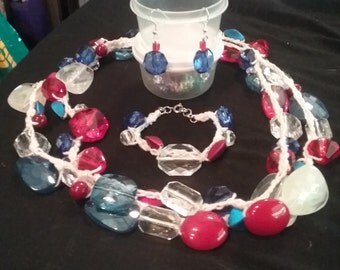 patriotic jewelry set