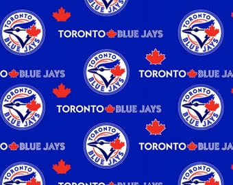 MLB Toronto Blue Jays Blue Cotton Fabric by the yard (IST4)