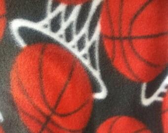 Basketball Fleece Fabric by the Yard