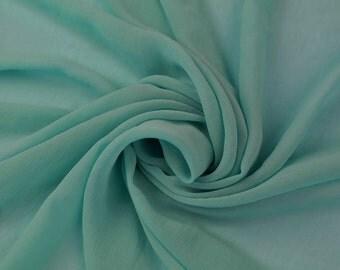 Hi Multi Chiffon Fabric by the Yard Aqua (LF1)