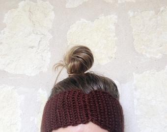 Brown Crocheted Headband