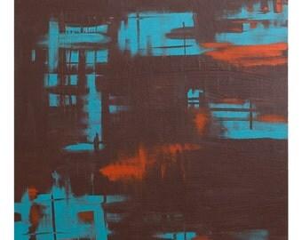 """Handmade acrylic painting """"Brown Jazz"""""""