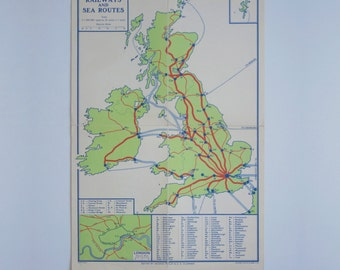 British Isles Railways and Sea Routes