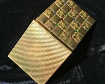 Vintage Square Powder Compact